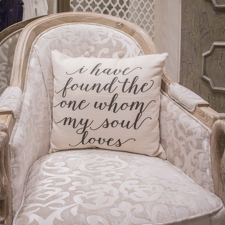 Altar'd State Hand Lettered Pillow I I Have Found the One Whom My Soul Loves