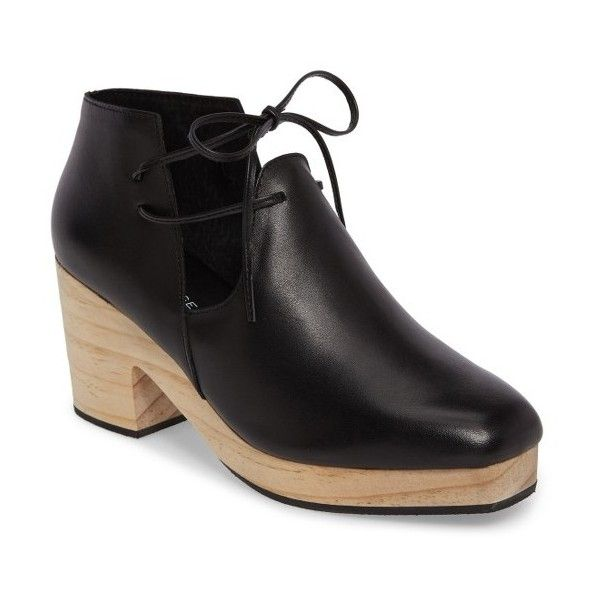 Women's Kelsi Dagger Brooklyn North Platform Bootie (1,210 HKD) ❤ liked on Polyvore featuring shoes, boots, ankle booties, black, block heel ankle boots, black platform boots, black platform booties, black bootie and platform boots