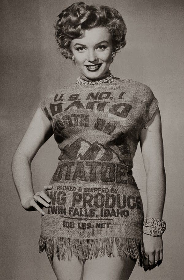 Marilyn Monroe and the Potato Sack Dress, c.1951