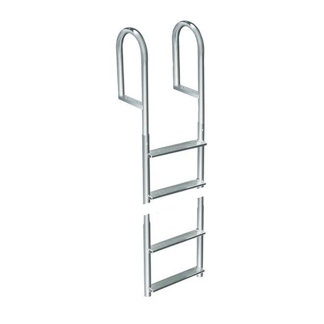 Dock Edge Welded Aluminum Fixed 4 Step Ladder [2014-F]