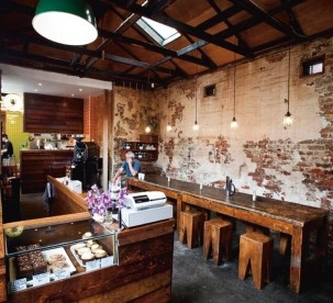 Monk Bodhi Dharma Cafe Balaclava, great Chai