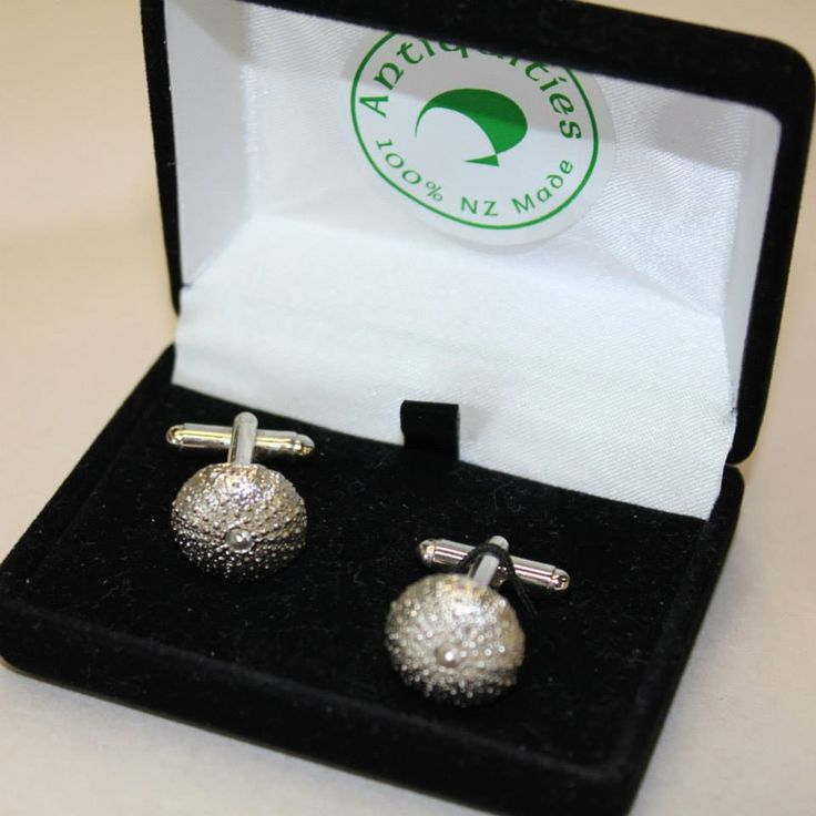 Kina Cufflinks by Antiquities Pewter, available in-store at CraftWorld, Westgate. #kina #nzmade #cufflinks #jewellery #craftworldnz #antiquitiespewter #pewter