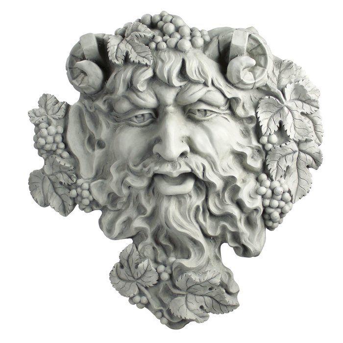 Greenman face résine figurine plaque murale