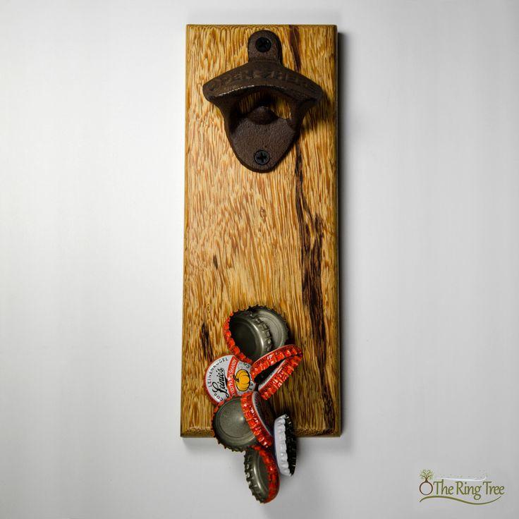 marblewood bottle opener theringtree wood magnetic - Magnetic Bottle Opener