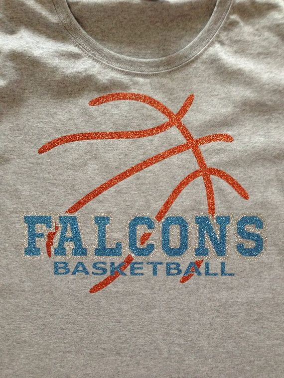 Abstract Basketball School Mascot Name T-Shirt or Hoodie - Customized  Glitter Vinyl on Etsy, $16.00