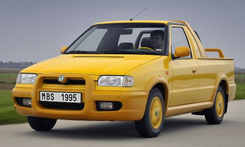http://chicerman.com  carsthatnevermadeit:  Škoda Felicia Fun 1995. A version of the Felicia pick-up which had a movable bulkhead that allowed 2 additional passengers to be carried.A total of 3992 Felicia Funs were built.  #cars