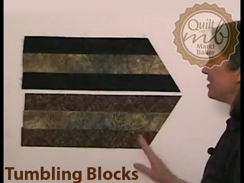 Tumbling Blocks tutorial looks very easy with instructions from Marci Baker.