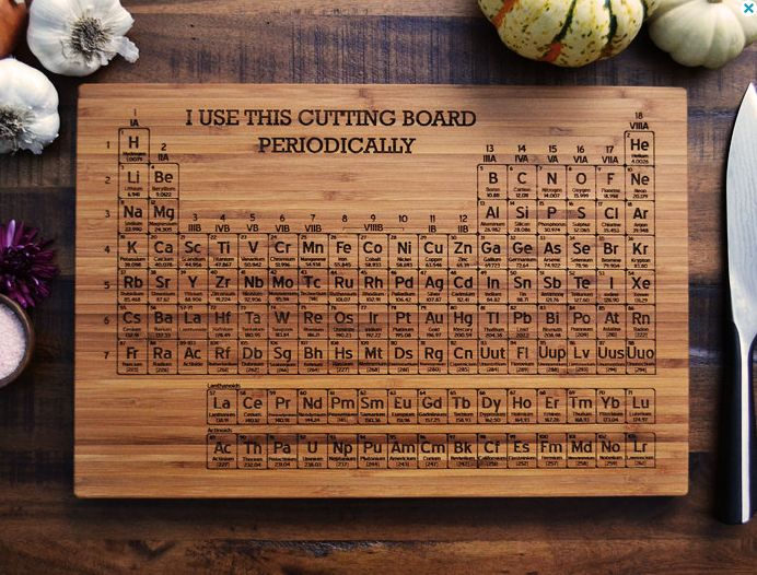 225 best tabla peridica images on pinterest periodic table cutting board periodic table urtaz Gallery
