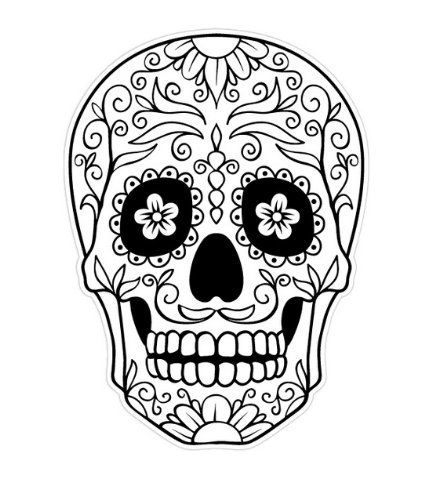Day of the Dead skull coloring page - Enjoy Coloring