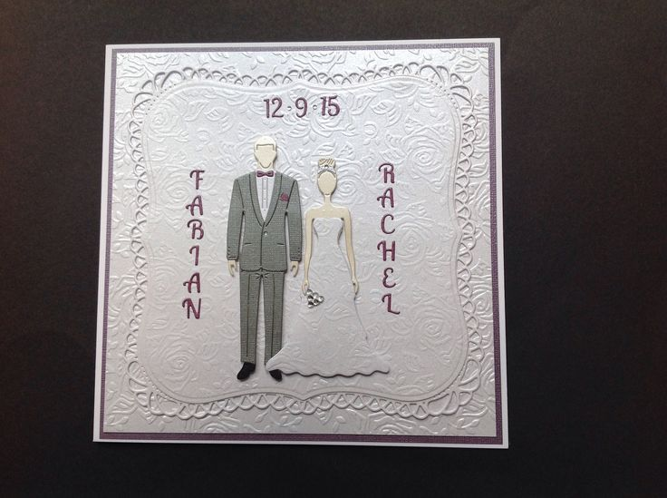 Made by Diane Jarvis For this wedding card I used George