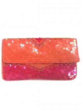 KC Malhan Zinnia Medium Clutch. Buy @ http://thehubmarketplace.com/zinnia-sequin-clutch