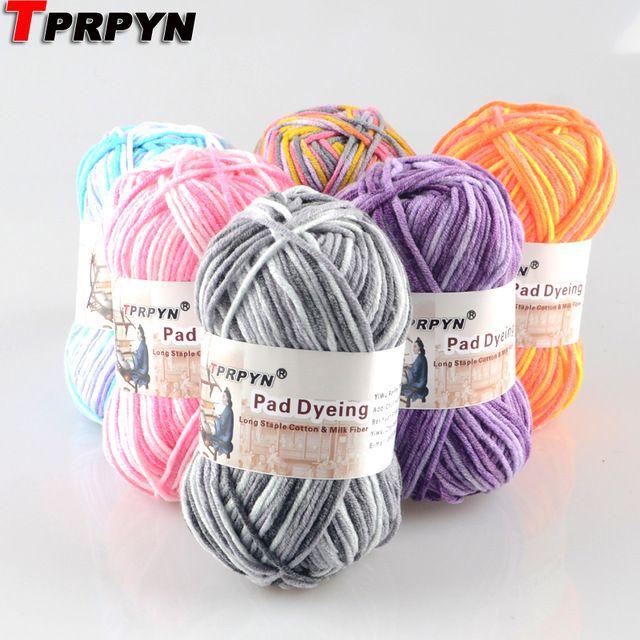 TPRPYN 1 Unid = 50g Cuerdas de Hilo de Algodón Hilado Mezclado Hermosos Colores de La Mezcla para Tejer A Mano Muñeca Suéter