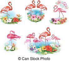 exotique,  flamingoes,  Arrangement