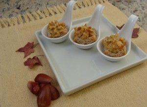 Canapés com souflé de pinhão