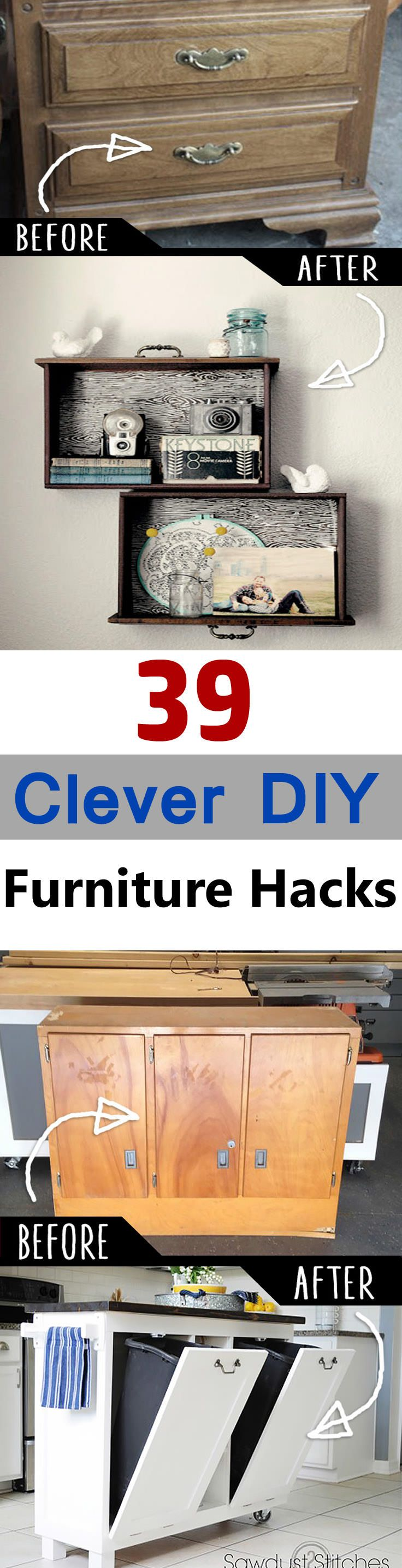 You'll definitely find these 39 clever DIY furniture hacks and ideas very interesting, once you see them.