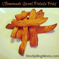 Homemade Sweet Potato Fries - great freezer recipe http://www.stockpilingmoms.com/2012/10/homemade-sweet-potato-fries/