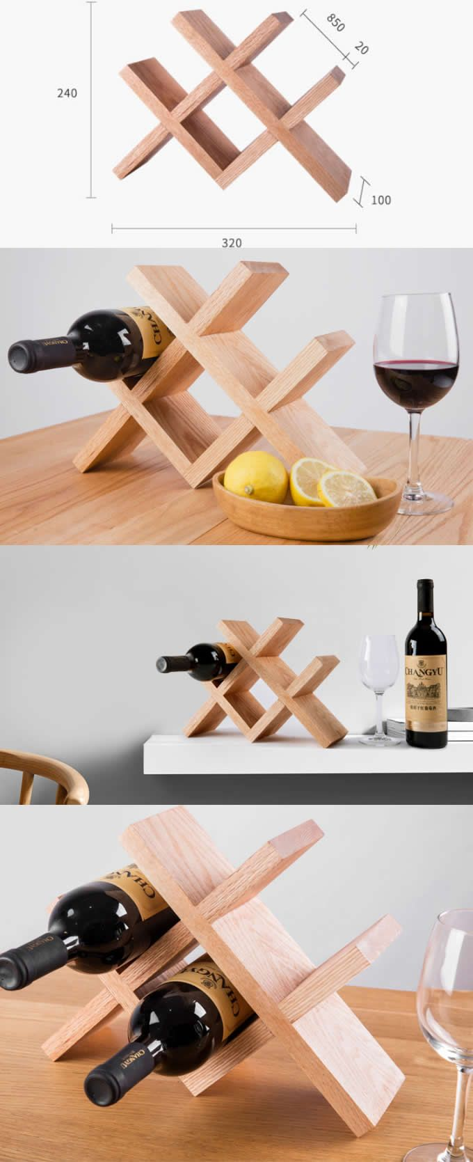 Wooden Bottle Rack Black Walnut Wooden Wine Bottle Holder Storage Rack Handmade Wood