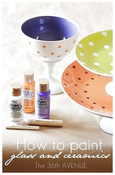 Diyhow To Paint Glass And Ceramics With Dishwasher Safe Paint