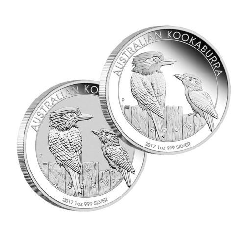Australian Kookaburra 2017 1oz Silver Proof Two-Coin Set | The Perth Mint