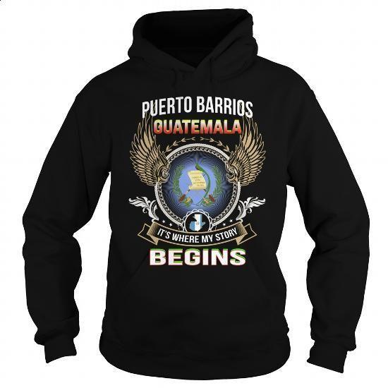 Puerto Barrios-Guatemala - #hoodies for women #vintage tee shirts. BUY NOW => https://www.sunfrog.com/LifeStyle/Puerto-Barrios-Guatemala-Black-Hoodie.html?60505