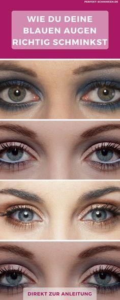 Blaue Augen? Und du bist dir oft nicht sicher, wie du sie noch schöner schminkst? Wir haben tolle Tipps für dich #blaue #Augen