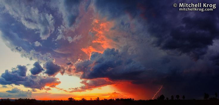 Stormy Sunset Lightning Panorama South Africa by Mitchell Krog on 500px