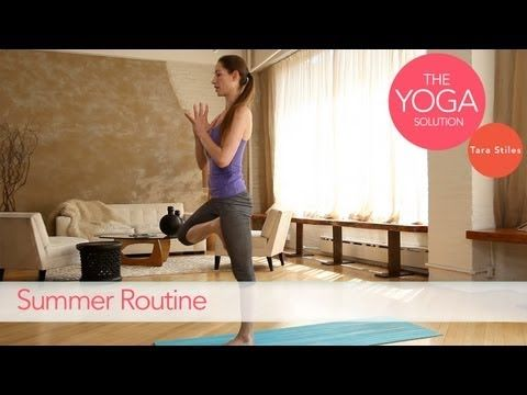 Summer Routine | The Yoga Solution With Tara Stiles. Less than 5 minutes. She's amazing.