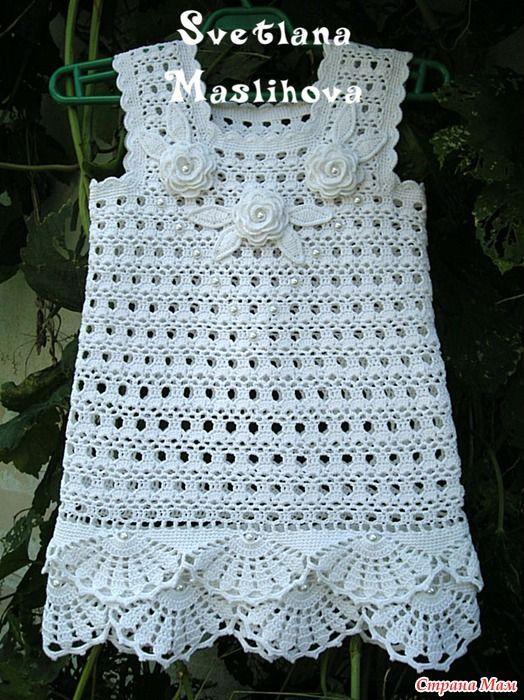 White dress with diagram, basic work.