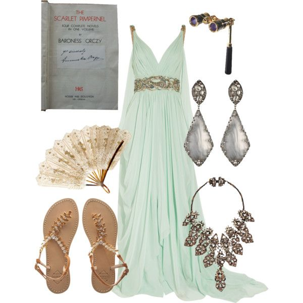"""Marguerite St. Just Blakeney from """"The Scarlet Pimpernel"""" by Baroness Orczy.  Chapter 10 """"In the Opera Box"""" - Bri (b-scottyer on Polyvore)"""