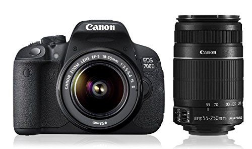 Canon EOS 700D with (EF S18 - 55 mm IS II and EF S55 - 250 mm IS II) DSLR Camera on October 04 2016. Check details and Buy Online, through PaisaOne.