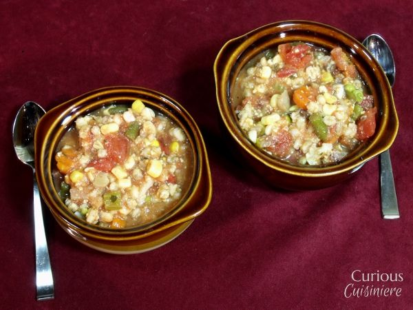 Chunky Vegetable and Barley Soup (500gms frozen veg)