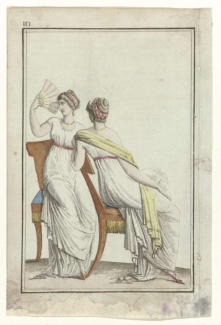 Tableau Général du Goût, 1797-1799, An 7, No. 1 (22 sept. 1798): Deux femmes vêtues à la romaine, Gide, 1798