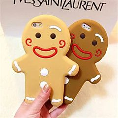 Gingerbread Man Silicone Phone Case For iPhone 6 (Assorted color)