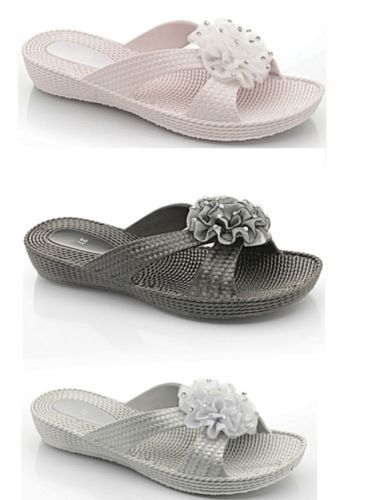 Silver, Black Or White Mules £5.99