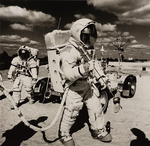 Space: Training in US for Apollo 17 flight Dec 1972, the last Moon landings