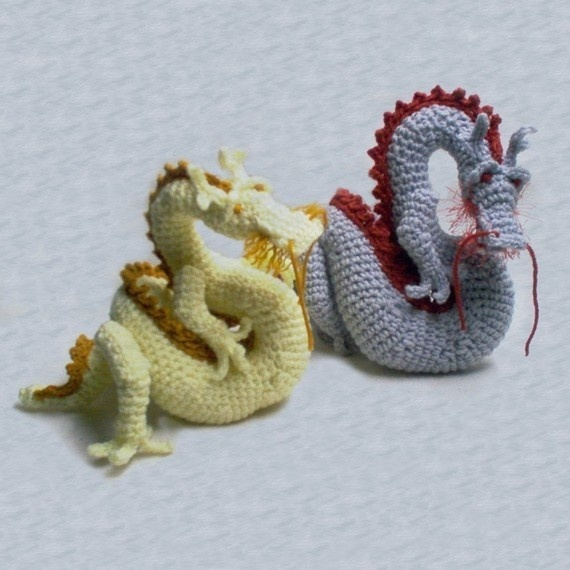 Asian dragon pattern crochet usb Pinterest