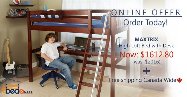 Click & Save on all Maxtrix Loft Beds and Bunk Bed.  Find all your options on www.bedsmart.ca  *Maxtrix Loft & Bunk Beds are modular, made of Solid Maple & holds up to 400lbs.