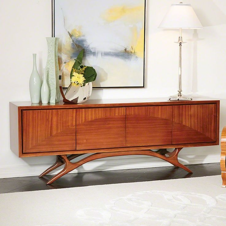Ray Lee Interiors: Global Views 2544 Swoop Transitional Media Cabinet GLV-2544