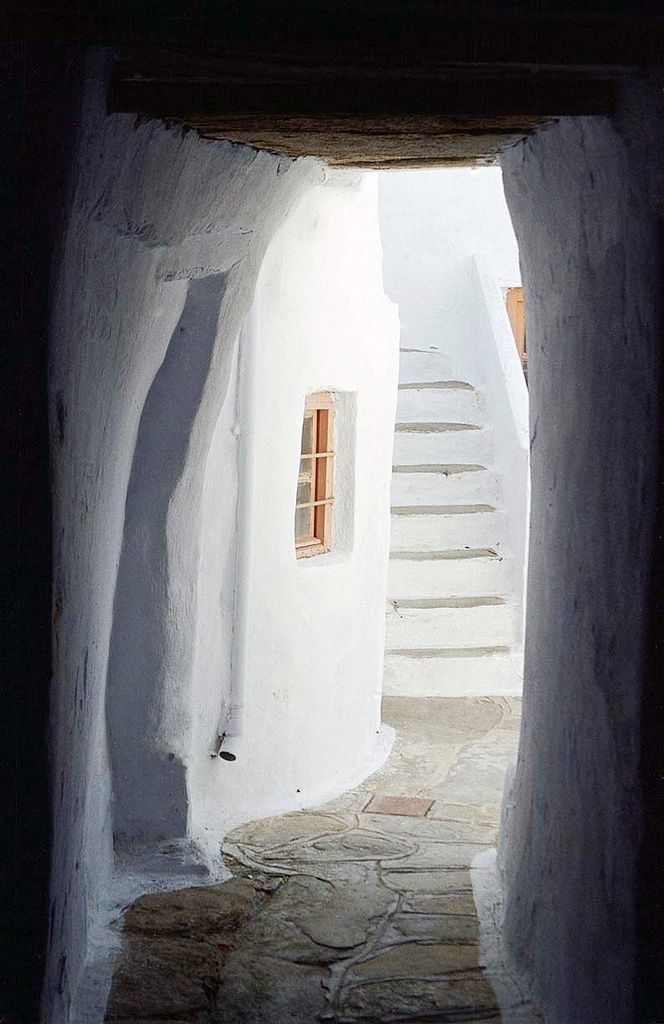 Shady Passage in Tinos, Greece