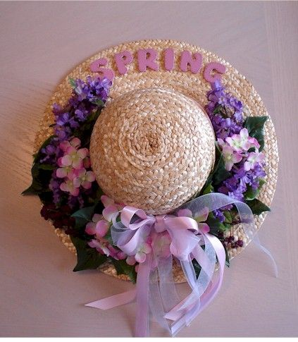 From An Old Straw Hat Crafts Spring Hats Hat