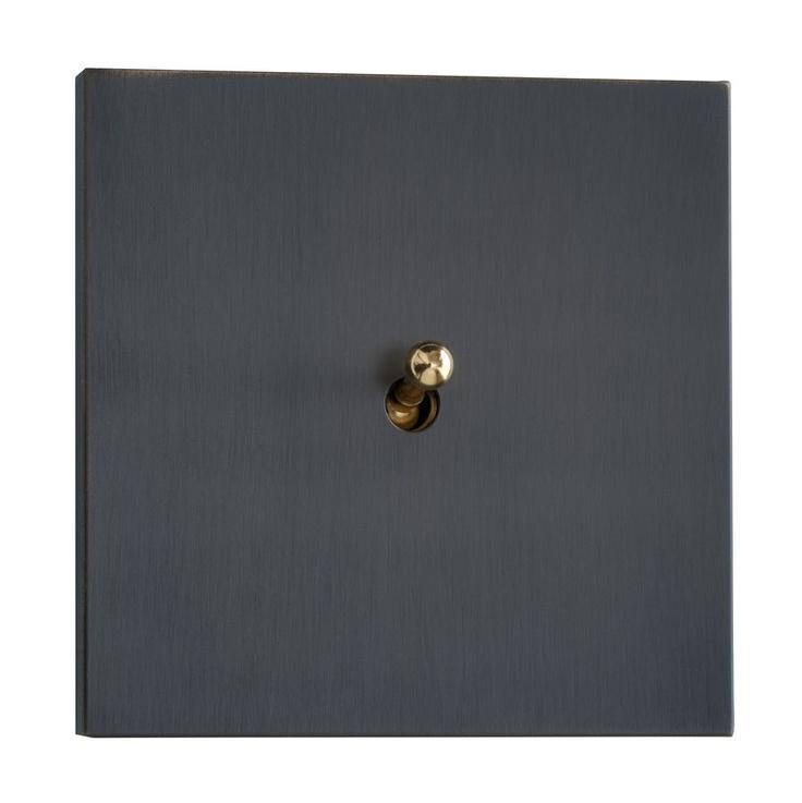 toggle light switch with metal finishing SYDNEY : BRONZE LUXONOV