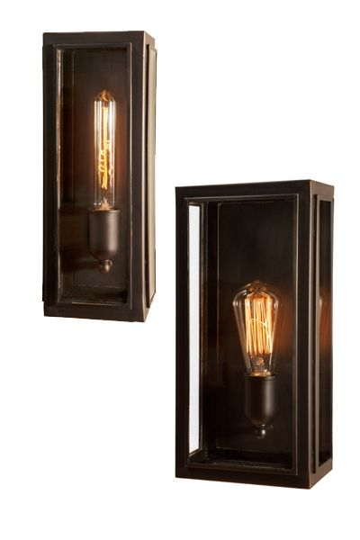 Bronze Lantern Style wall Light, perfect to go with long filament globes and give a mood light in your space. 3w