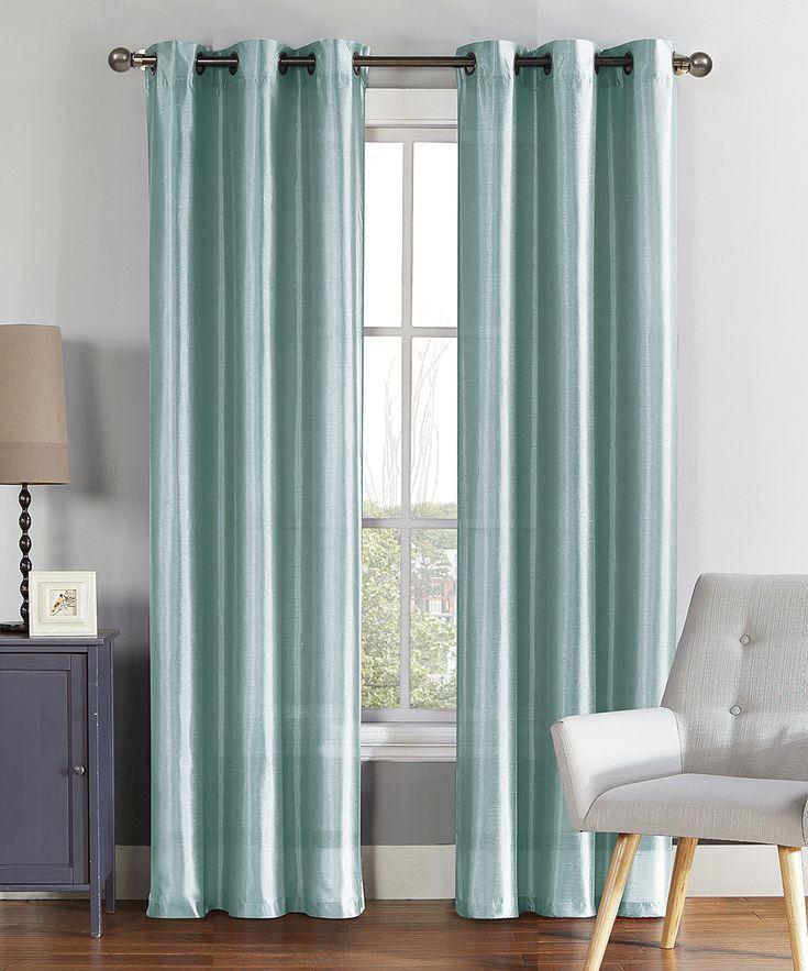 Vcny Home Spa Blue Alina Faux Silk Curtain Panel Alina Blue Curtain Fauxsilk Home Panel Silkcurtain Spa Curtains Panel Curtains Faux Silk Curtains
