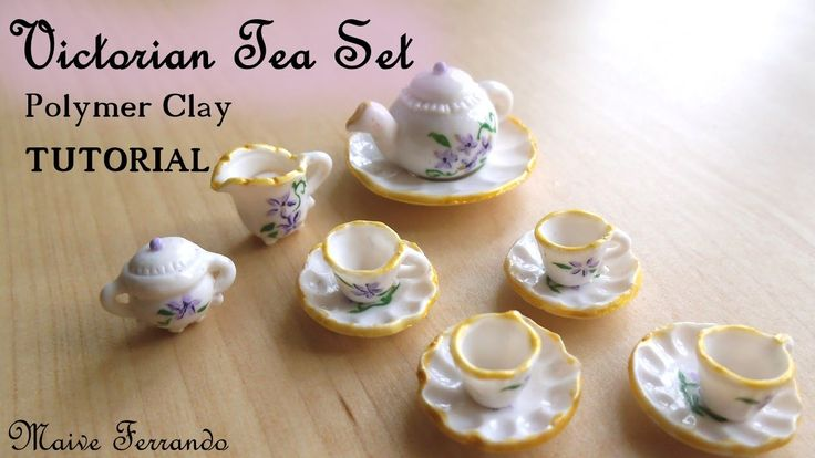 Victorian Tea Party Part 1: Tea Set / Crockery - Polymer Clay TUTORIAL