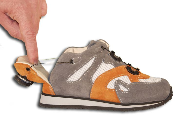 The twister shoes for children or adults with splints or AFO's. - How cool?