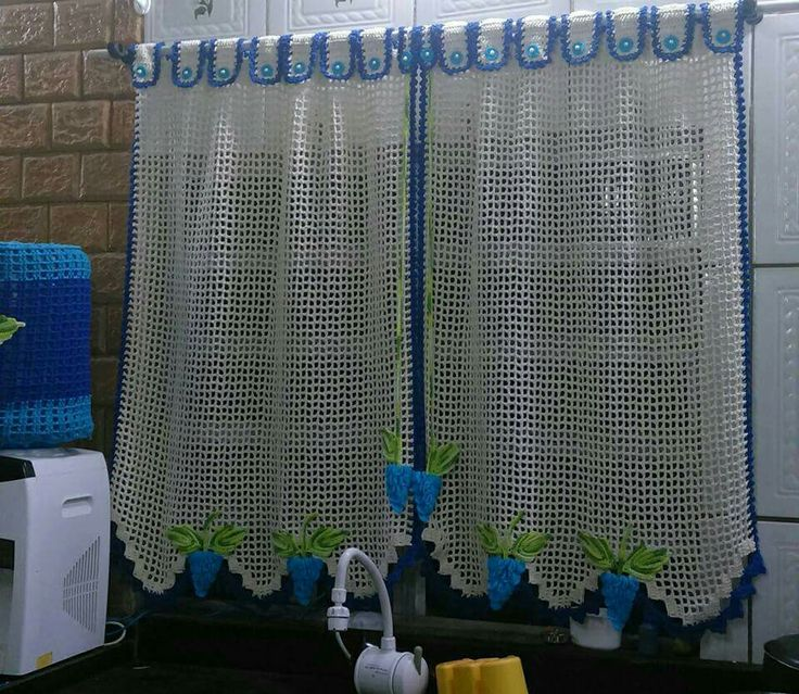 17 melhores imagens sobre cortinas e bandos de croche no - Bandos para cortinas ...