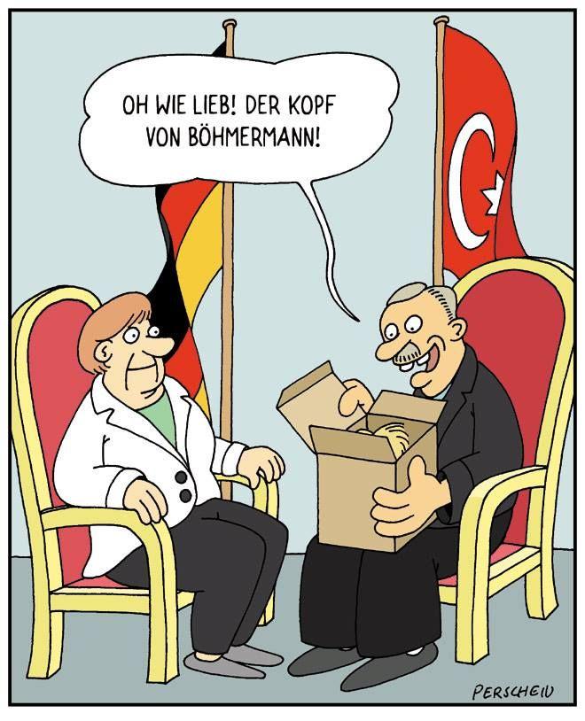 Merkel muss weg! Merkel und Erdogan! Böhmermann