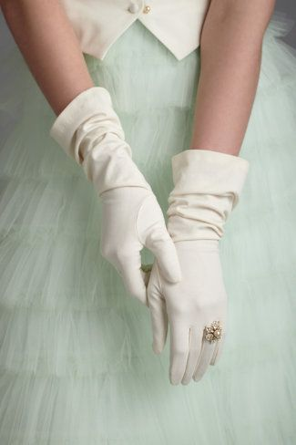 We love it all!   Tull, mint, classic long white gloves and cocktail rings!