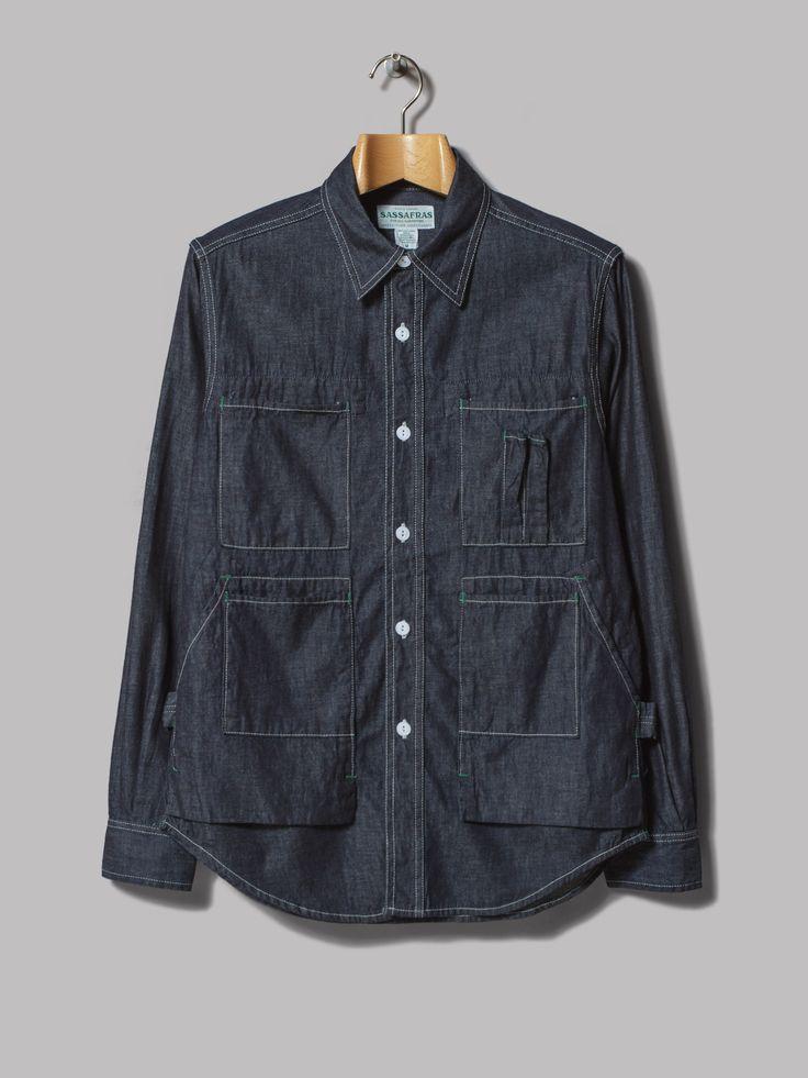 Mens Blue Chambray Shirt