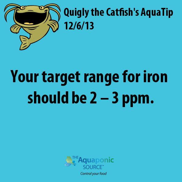 Your target range for iron should be 2 – 3 ppm #aquaponics #aquaponic #gardening…